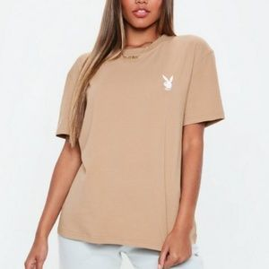 Playboy x missguided Tan T-Shirt